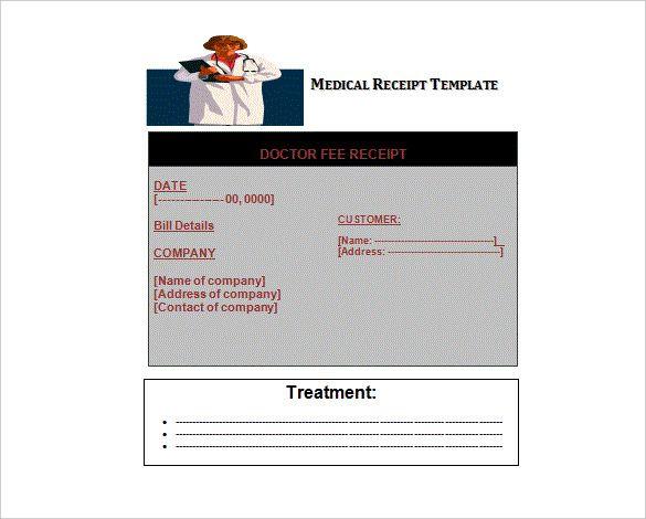 Doctor Invoice Templates 13 Free Printable Docs Xlsx Pdf Invoice Template Receipt Template Templates