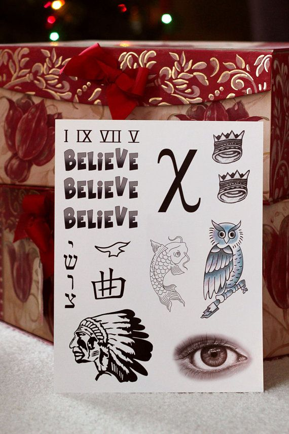 Justin bieber inspired temporary tattoos by fangirltattoos for Justin bieber fake tattoo sleeve