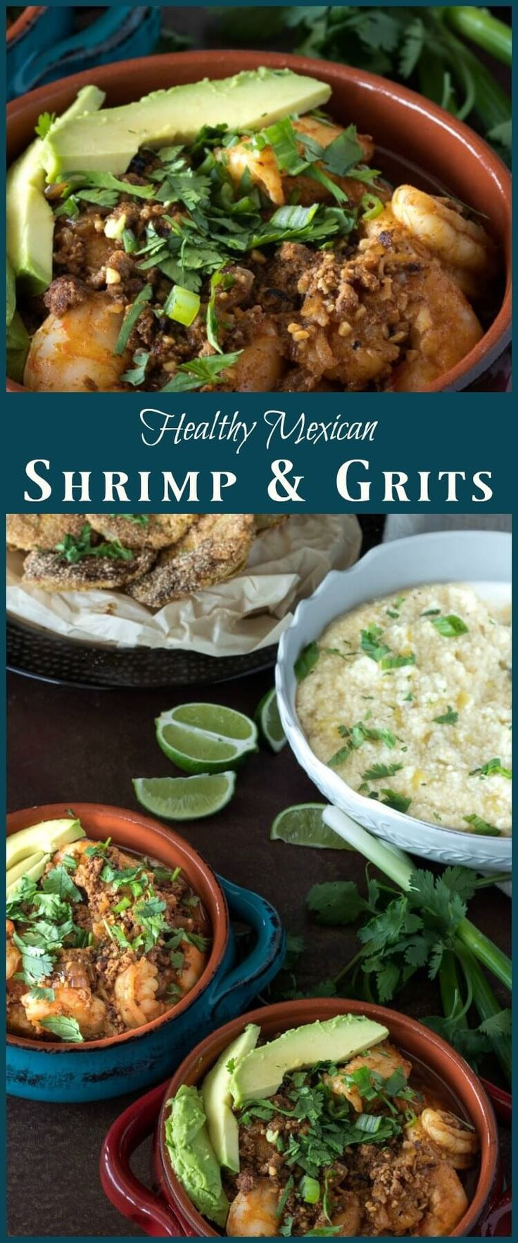 Healthy Mexican Shrimp and Grits - Bold Mexican fl…Edit description