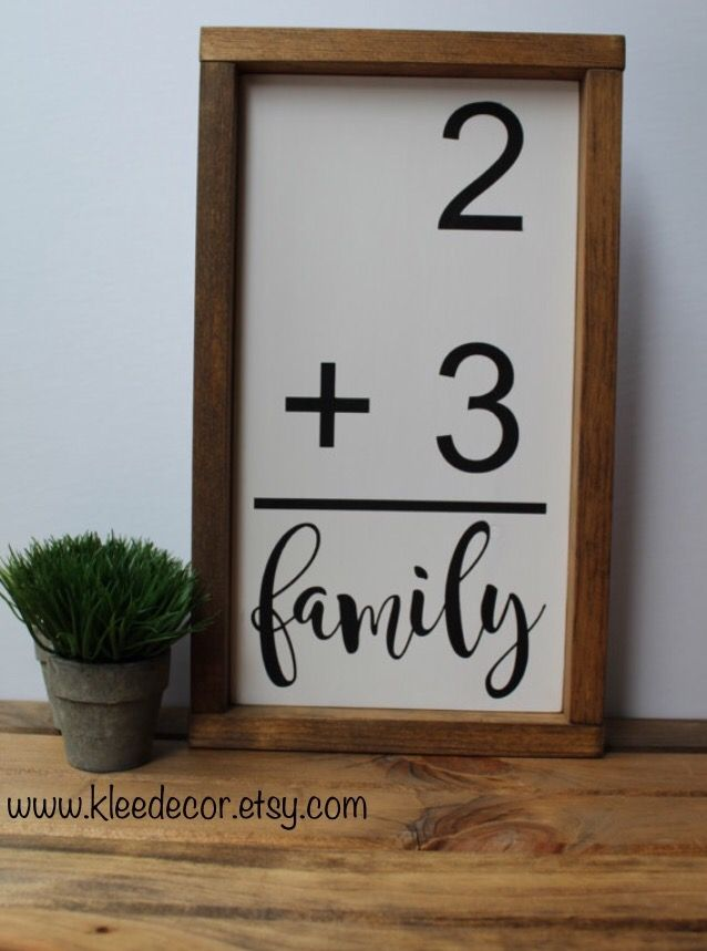 Family flash card, perfect for the family wall gallery! Available at kleedecor on Etsy!