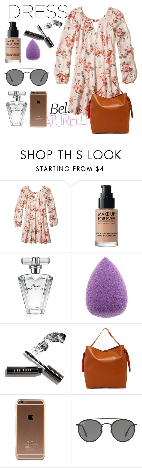 """""""PARK DATE"""" by rissarenee37 ❤ liked on Polyvore featuring Hollister Co., MAKE UP FOR EVER, Avon, Bobbi Brown Cosmetics, Shiraleah and Ray-Ban"""