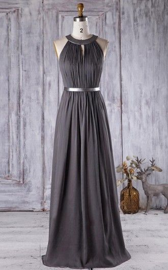 Best 25 grey chiffon dress ideas on pinterest chiffon for Goodwill wedding dress sale 2017