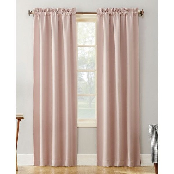 sun zero gaylen 40 x 63 blackout rodpocket window panel 20 liked on polyvore featuring home home decor window treatments curtains blush