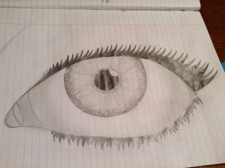 I was bored in class so I doodled a eye