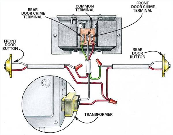 doorbell wiring diagram two chimes  | pinterest.com