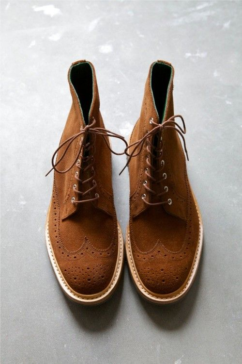 Tricker's Richard Repello Snuff Suede Longwing Boot