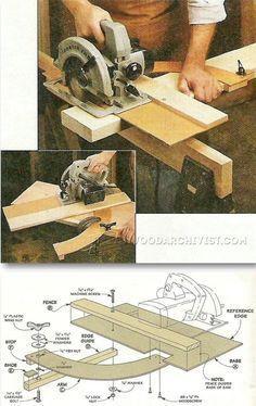 Circular Saw Cut Off Jig - Circular Saw Tips, Jigs and Fixtures | WoodArchivist.com