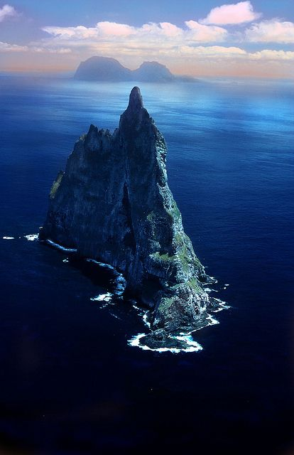 Ball Pyramid is the world's tallest sea stack. It is the remains of a shield volcano formed about 7 million years ago. It is 562 meters high and is located southeast of Lord Howe Island in the Pacific Ocean.   Flickr