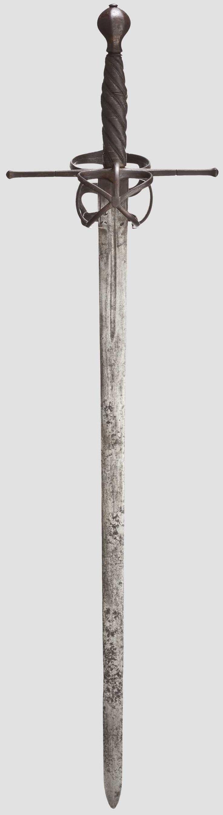 """Espada bastarda o """"de mano y media"""", 1570."""