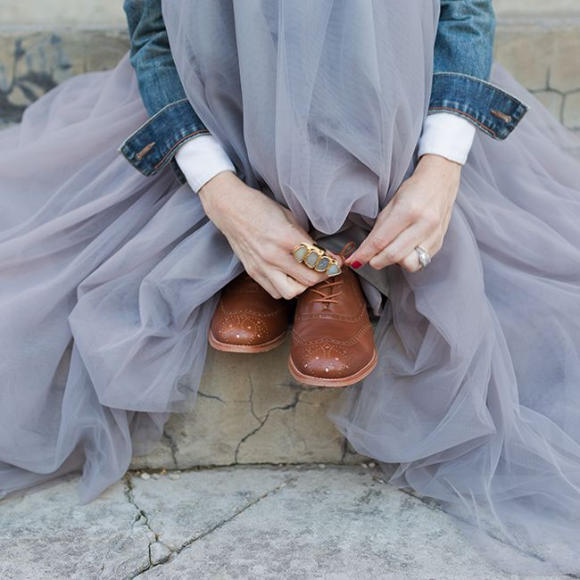 Borrowed from the Boys: Conni Jespersen from Art in the Find shows us how to wear her Poppy Barley brogues