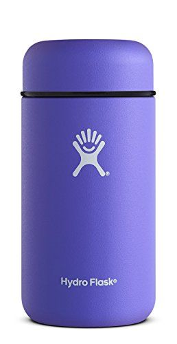 Hydro Flask 18 oz Double Wall Vacuum Insulated Stainless Steel BPA Free Food Flask / Thermos, Plum - Snack happy, because you can only live on trail mix for so long. With a sleek new design and improved temperature control technology, you can now keep your favorite foods at their ideal temperature even longer than before. The Food Flask is like a mini-fridge that you can actually carry. Great fo...