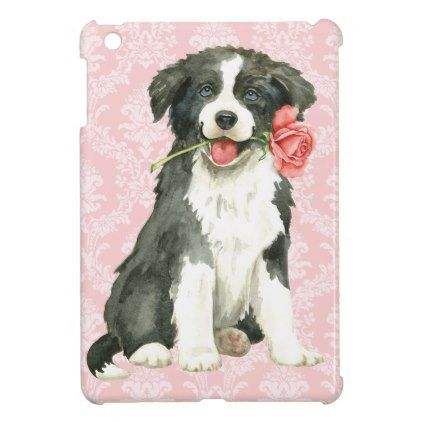 Valentine Rose Border Collie Cover For The iPad Mini - dog puppy dogs doggy pup hound love pet best friend