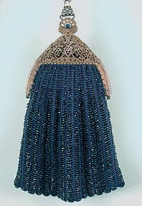 Blue Beaded Bag, 1915-1920s