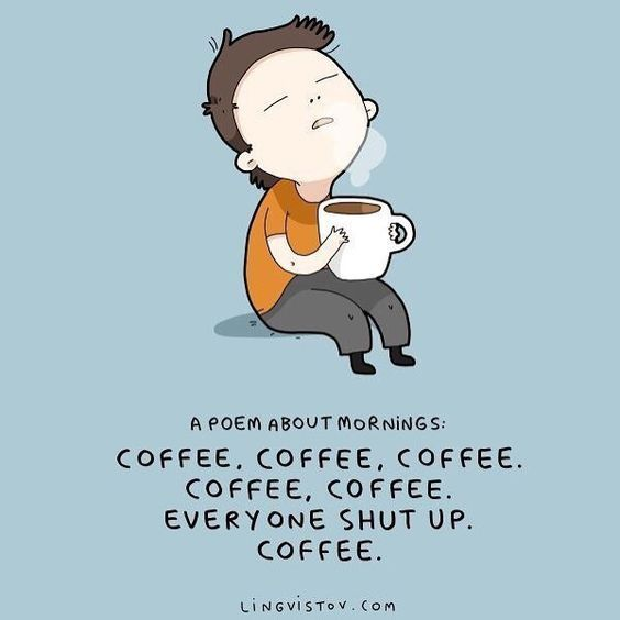 Monday morning coffee poem | coffee meme | coffee quotes | morning ... #coffeeBreak