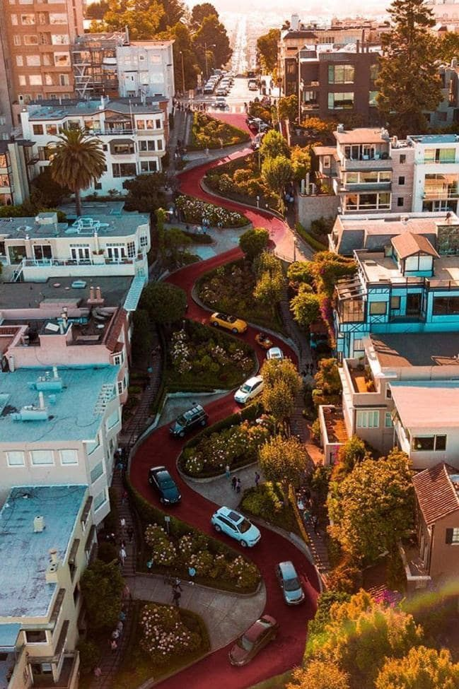 20 Of The Most Beautiful Streets In The World In 2021 San Francisco Travel Lombard Street California Travel
