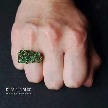 Leśny pierścionek www.KuferArt.pl