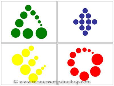 Knobless Cylinder Pattern Cards - Printable Montessori Sensorial Materials for Montessori Learning at home and school.