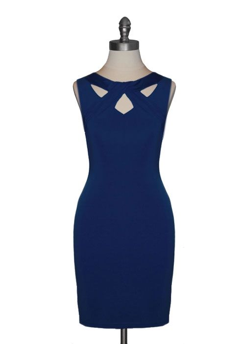 Twisted Neckline Dress from Ark & Co.