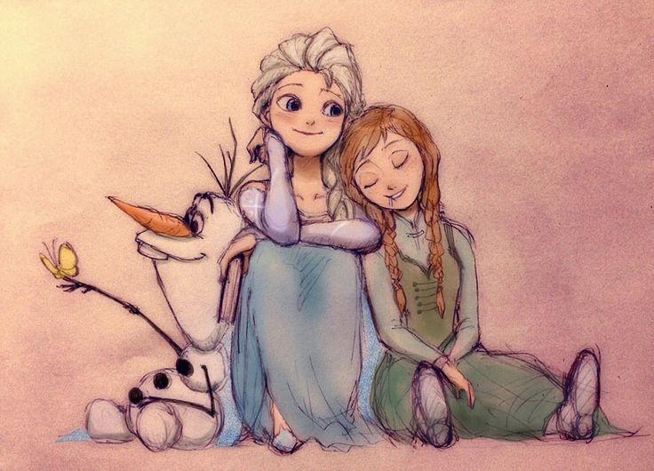 Anna and Elsa drawing