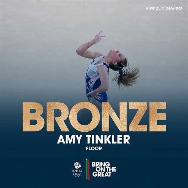 16 years old, and a #BRONZE medal!! Amy Tinkler, take a bow!! What a day…
