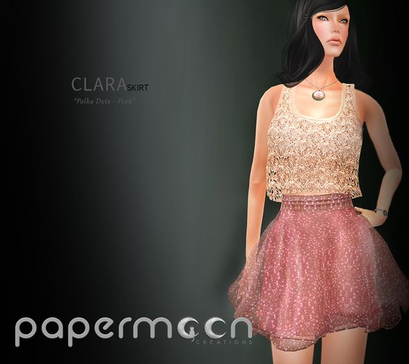 PaperMoon- CLARA Skirt-  Polka Dots - Pink