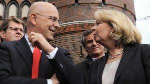 Torsten Albig und Hannelore Kraft: Wechseln wenige Monate nach ihrem Abschied aus der Politik in die Wirtschaft. (Quelle: dpa/Angelika Warmuth)
