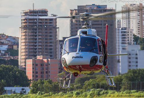 Helicoptero da policia militar do Estado de Sao Paulo.