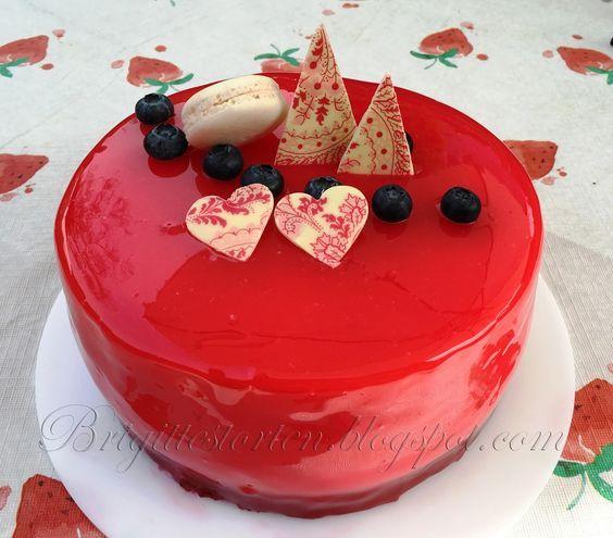 Mirror Glaze cake / Spiegelglanz Torte – Brigittes Tortendesign