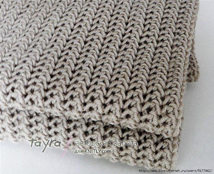 красивый узор для шарфа узоры спицами журнал вдохновение