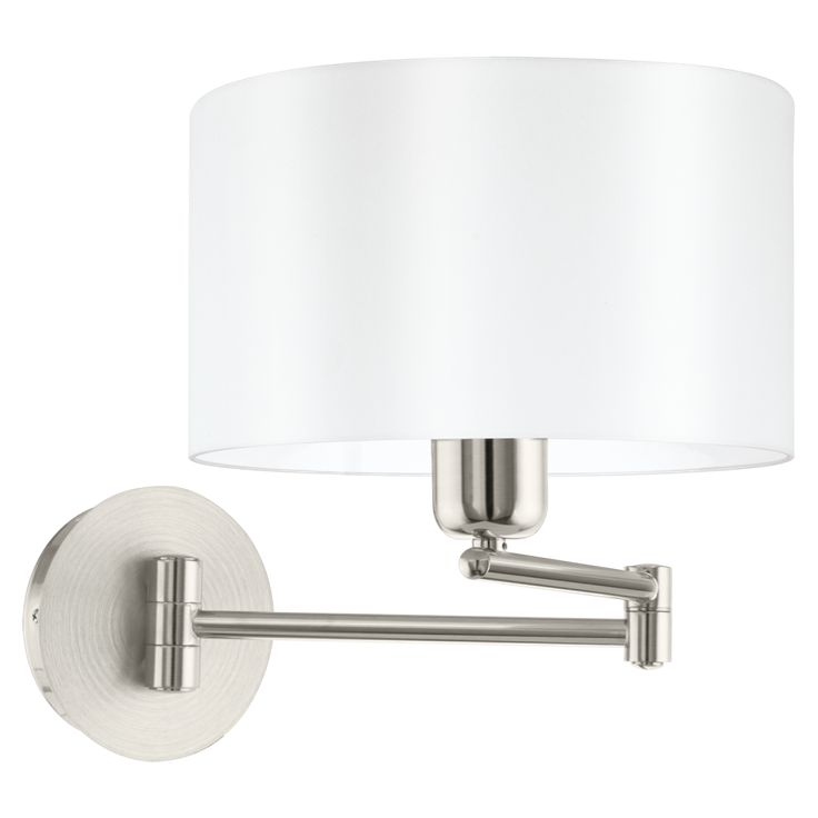 95061 Pasteri 1 Light Switched Wall Light White