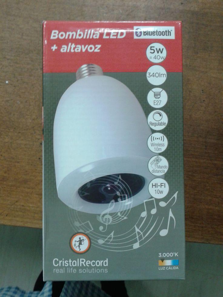 lampara LED + ALTAVOZ