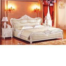 Talla de madera maciza de lujo classic juego de cama