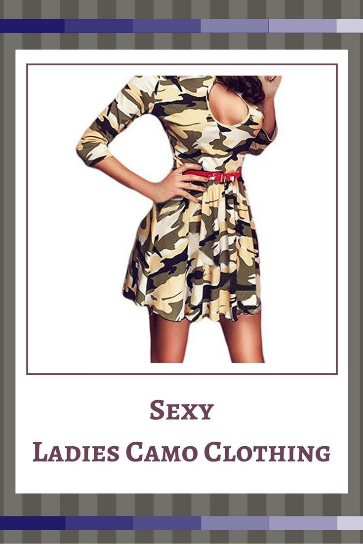 Finally we get to my favorite type of ladies camouflage clothing. Women's camo dresses are the epitome of cute, trendy and sexy.      sexy camouflage clothing for women