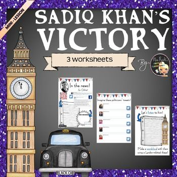 Have your students learn more about the new mayor of London! Sadiq Khan became the mayor of London. His speech advocates unity and hope. Here is a mini-lesson to follow the news:You will find: a reading activity from two tweets a viewing activity from his campaign website a listening activity (his victory speech) two writing follow-ups: tweets to write and a wordcloud to create.