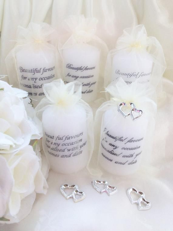 Personalised Vintage Style Tealight Candles Wedding Favours Set of 100