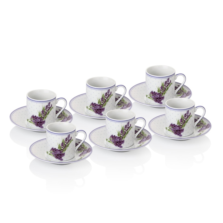 Lavender Kahve Fincanı Seti / Coffee Cup Set #bernardo #kitchen #mutfak #tabledesign