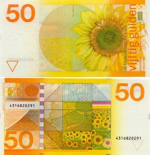 Dutch 50 guilder bill.