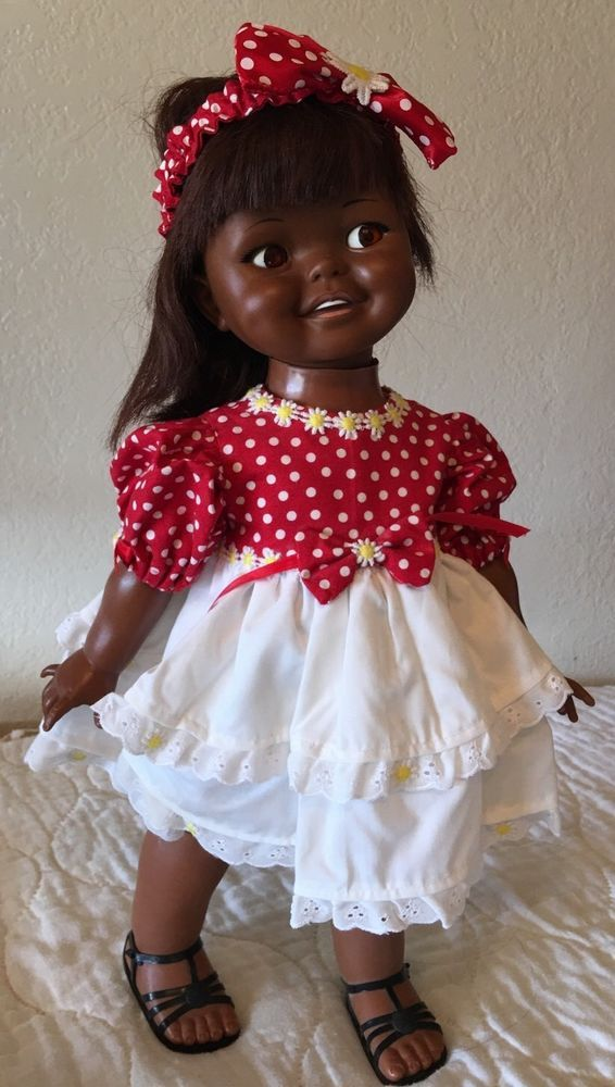 Vintage Ideal Giggles Doll Black African American 1960's #Ideal #Dolls