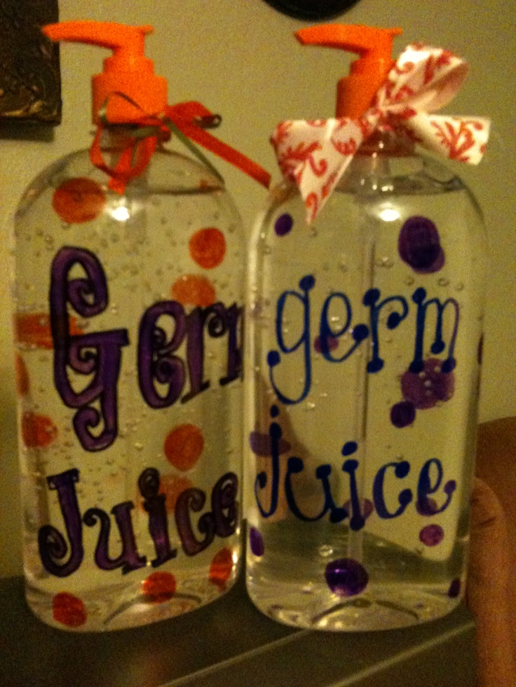 Germ Juice! Back to school teacher gift?  Um no.  I know kinder kids who'd actually try to drink it , lol.