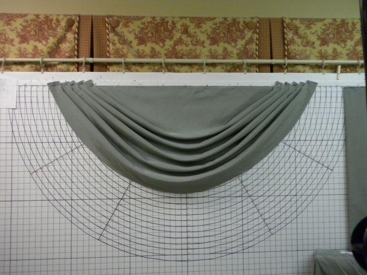 Elaboración cortina drapeada
