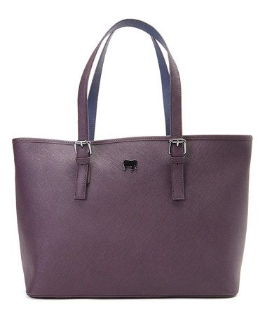 Love this Purple Leather Shopper by Mywalit on #zulily! #zulilyfinds