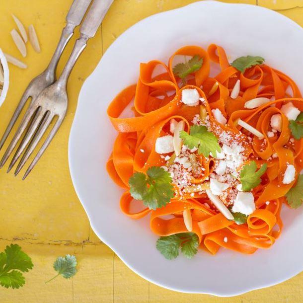 Tagliatelles de carottes au miel