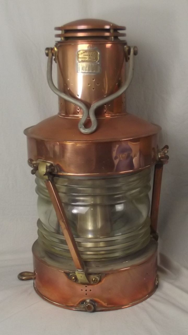 Early 20th Century Copper Masthead Ships Lantern By W.T.George & Co