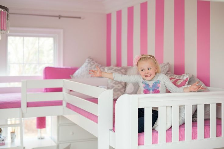18 best triple quad bunk loft beds for kids images on for Bunk bed and bang