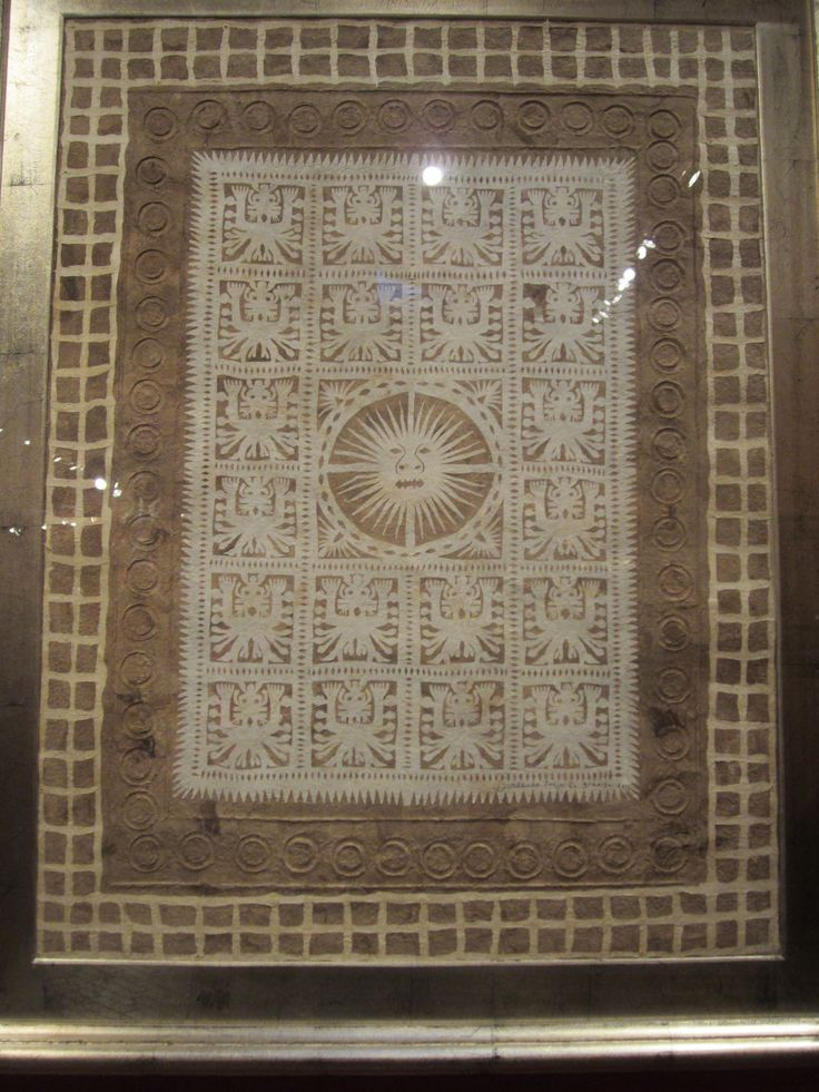 Mi apreciación es hacia al sol Incaico que se ve en esta textura o cuadro