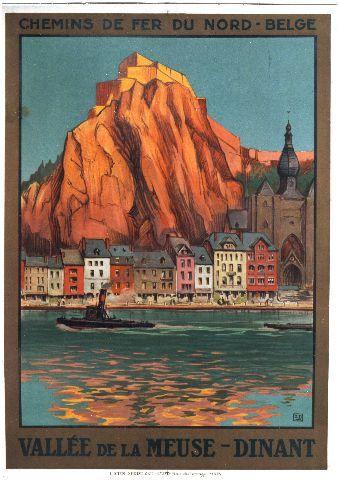 Hallo - Vallée de la Meuse Dinant - 1925 vintage poster