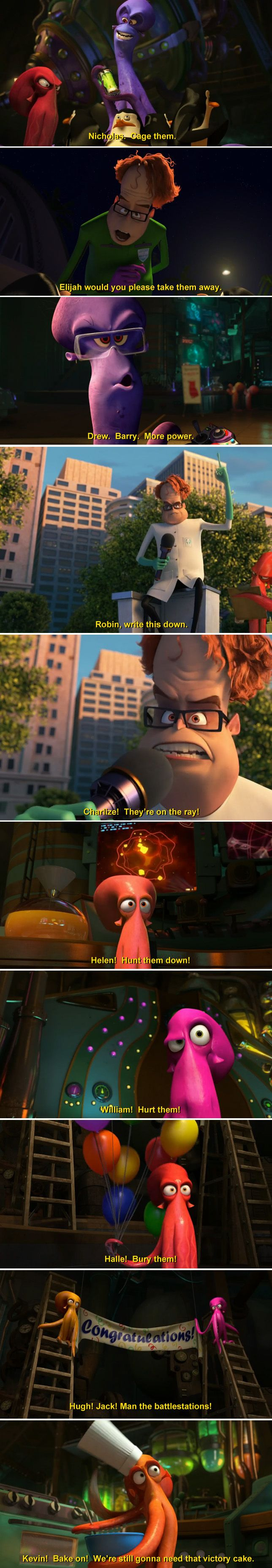 "As a grown-up and movie-fan, I really appreciated this running gag in ""Penguins of Madagascar."" // Imgur"