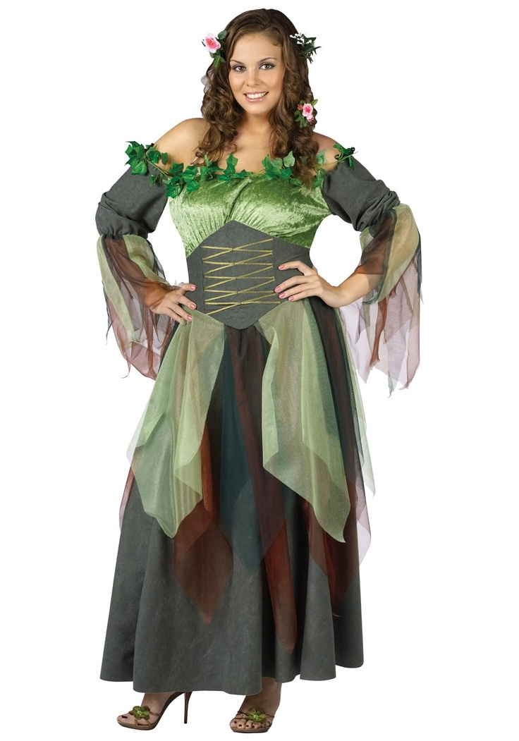 Plus sized Mother Nature costume . . . shop thrift stores for filmy fabrics (old bridesmaids' dresses)