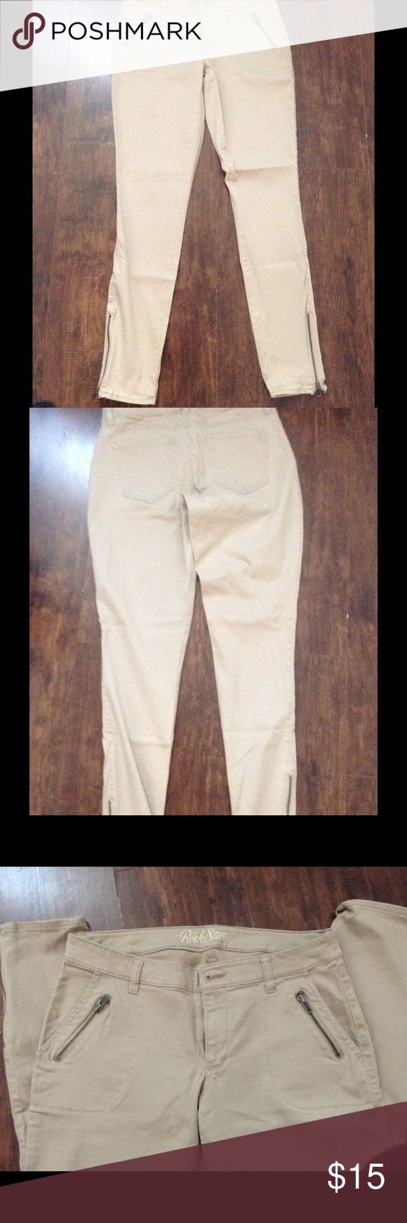 Old Navy khaki skinny jeans size 12 TALL Excellent condition, new within tags Old Navy Jeans Skinny