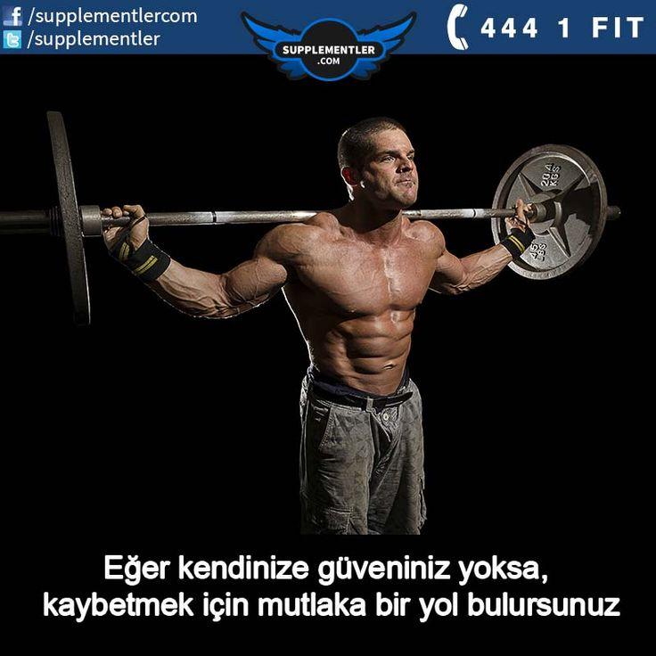 """Eğer kendinize güveniniz yoksa, kaybetmek için mutlaka bir yol bulursunuz.""  #spor #workout #vücutgeliştirme #workoutflow #workouttime #fitness #fitnessaddict #fitnessmotivation #fitnesslifestyle #bodybuilding #supplement #health #healthy #workout #fitness #crossfit #motivation #protein #proteintozu #beslenme"